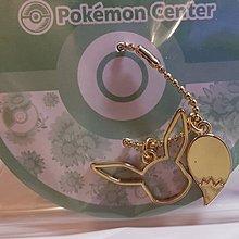 Pokemon Center 金色吊飾 - 伊貝形狀&尾巴