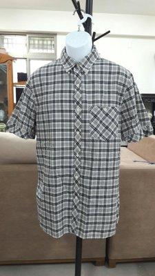 (二手近全新) Polo Jeans Company黑白格紋短袖襯衫(美版L)(B203)