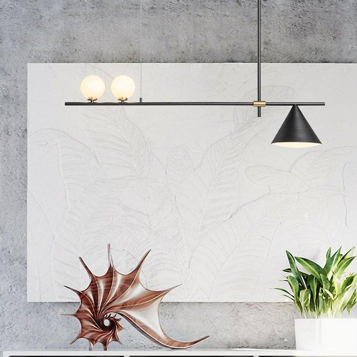 5Cgo【燈藝師】577140903574 現代簡約北歐風格藝術燈具吧臺餐桌家用餐廳燈創意個性三頭吊燈
