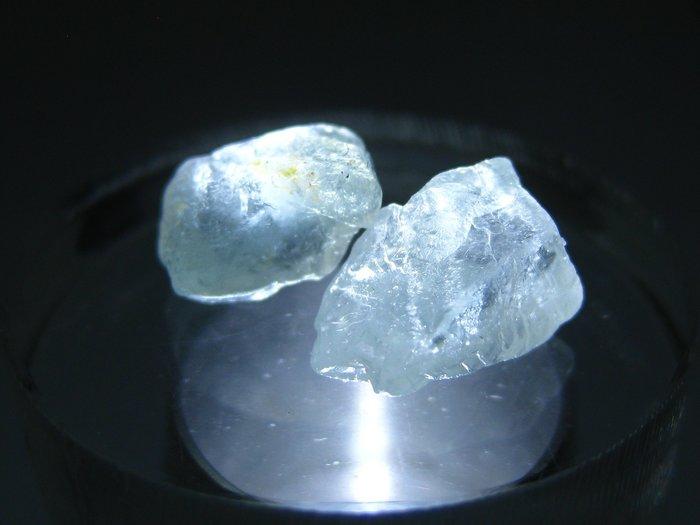 拓帕石 Topaz 天然無燒無處理 自然藍 原礦 標本 礦石 02【Texture & Nobleness 低調與奢華】