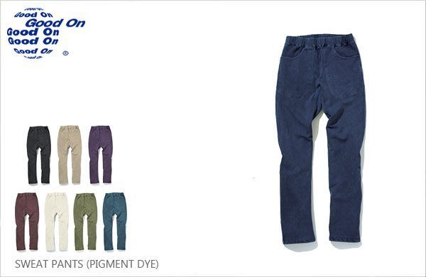 WaShiDa【gobw1104p】Good On 日本品牌 後染 基本款 純棉 直筒 毛巾布 長棉褲 運動褲