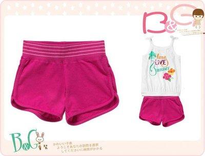【B& G童裝】正品美國進口Crazy8 Ribbed Waist Knit Short桃紅色短褲XS,S號3-4,4-6yrs