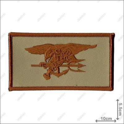 【ARMYGO】美國海豹部隊繡章(沙色) (5x 10 公分)