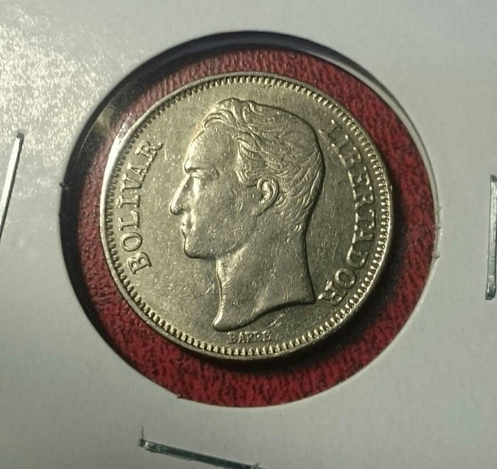 委內瑞拉1967年1波利瓦錢幣1枚