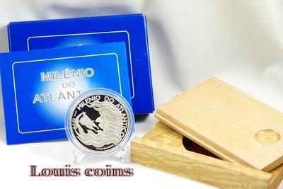 【Louis Coins】F022‧Portugal‧1999葡萄牙‧里斯本世博‧千禧大西洋紀念精鑄銀幣