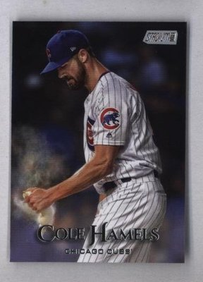 2019 Topps Stadium Club #55 Cole Hamels - Chicago Cubs