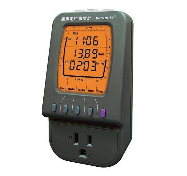 TECPEL 泰菱》2045J  圖示定時電度計 節能 減碳 節費
