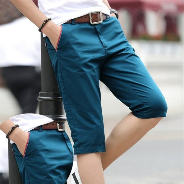 現貨/男士短褲夏季正韓潮流修身7七分褲中褲子夏天休閒5五分褲沙灘馬褲192SP5RL/ 最低促銷價