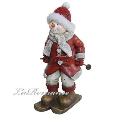 【芮洛蔓 La Romance】德國 Heidi 童趣家飾 - 聖誕童話紅衣滑雪雪人 / 交換禮物