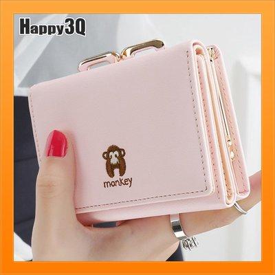 小錢包短夾女士錢包短款錢包零錢包卡片收納零錢夾-米/黑/紫/青/綠/桃/粉【AAA4162】