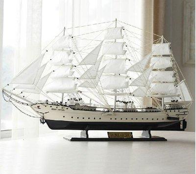 特大號高檔帆船戰艦模型 木制工藝禮品裝飾擺件 地中海喬遷送禮