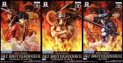 日本正版 景品 海賊王 航海王 DXF BROTHERHOOD II 魯夫 艾斯 薩波 3種組 模型 公仔 日本代購