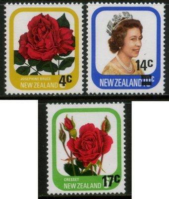 郵紳_47314_紐西蘭_加蓋改值_1979年版_一套3全_原膠新票_美品_背潔無貼_低價起標無底價