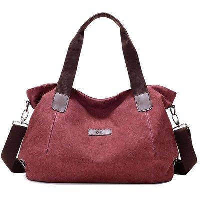 肩背包帆布手提包-大容量簡約休閒純色女包包5色73wa35[獨家進口][米蘭精品]