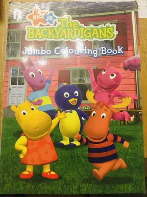 大開本寶寶填色游戲書 the backyardigans jumbo colouring book
