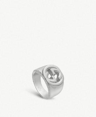 Flowerer. Sha Gucci logo 銀戒