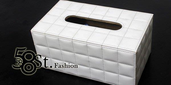【58街】皮革製品設計款式「方格羊皮面紙盒、紙巾盒」。AF-100