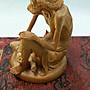 【佛善緣】ANE0129  黃楊木 坐觀雲起 精雕擺件 中國精雕名師-林建軍作品