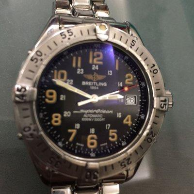 百年靈 Breitling superocean 1000M 深海潛水機械錶