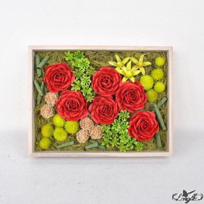 情人節玫瑰干花仿真花家居擺設現代簡約清新客廳臥室永生花禮盒裝