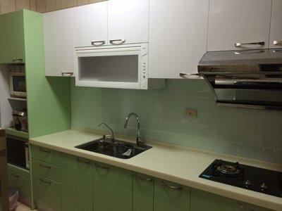 卉誠廚具流理台人造石檯面280CM含3機電器櫃