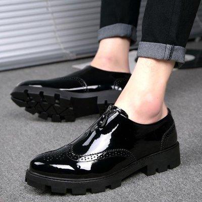 生活用品 特賣  皮鞋男士尖頭套腳韓版潮流休閒鞋英倫商務內增高8cm男鞋A011