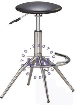 【品特優家具倉儲】P026-19吧台椅圓墊電鍍俏麗吧台椅櫃檯椅