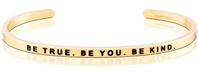 美國悄悄話手環 Mantraband Be True. Be You. Be Kind X 金色 現貨