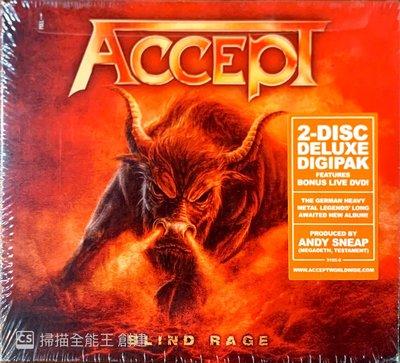 【搖滾帝國】德國重金屬(Heavy Metal)樂團ACCEPT Blind Rage 2014年發行 CD+DVD專輯