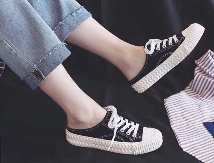 Lo流行女鞋~ 『舒適樂活』* 經典復刻後空帆布鞋*