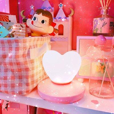 迷你LED愛心 少女軟妹床頭創意節能燈可愛小夜燈氛圍燈拍照道具燈WY