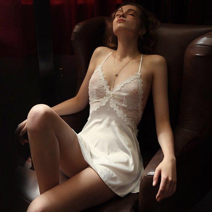 情趣館 情趣內衣睡衣性感騷女挑逗蕾絲誘惑透明床上激情睡裙 禧禧
