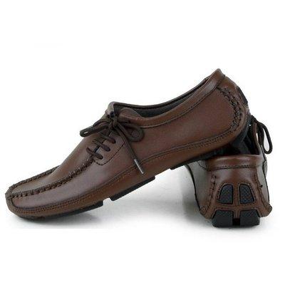 真皮皮鞋 休閒鞋-時尚流行商務純色男鞋子4色a9[獨家進口][米蘭精品]