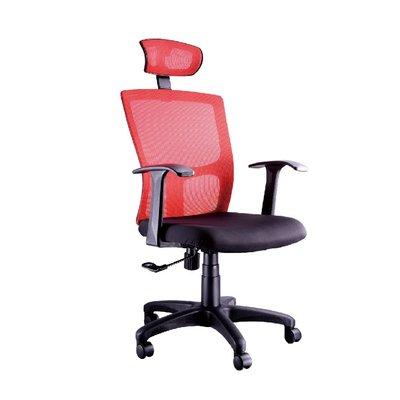 螞蟻雄兵 LV-831 網布辦公椅(紅色款) 電腦椅 職員椅 會議椅 電競椅 透氣耐坐 人體工學 頭枕 辦公桌椅 椅子