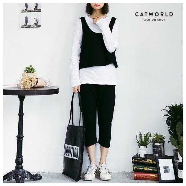 轉賣~ Catword 正韓側開叉背心三件組