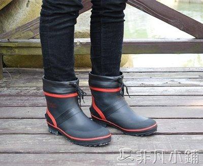 雨靴 新款短筒低筒矮幫輕便舒適防臭防滑帥氣男款釣魚雨鞋雨靴水鞋膠鞋   全館免運