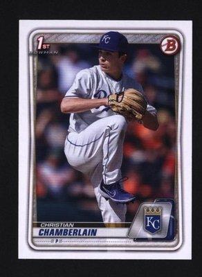 2020 Bowman Draft #BD-84 Christian Chamberlain - Kansas City Royals