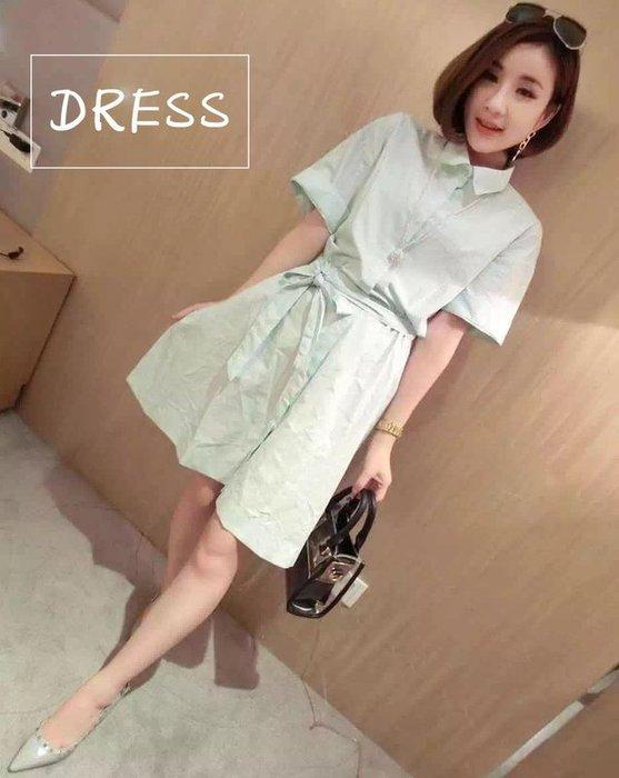 洋裝【TLS014】簡約時尚素色洋裝 當季新品 正韓連線 連身裙 短裙 牛仔裙 修身顥瘦 收納女王