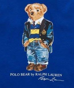 Ralph Lauren POLO 限量polo熊 青年款 印花 薄 帽T 現貨 寶藍