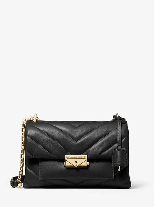 Coco 小舖Michael Kors Cece Medium Quilted Leather Bag 黑色肩/斜背包