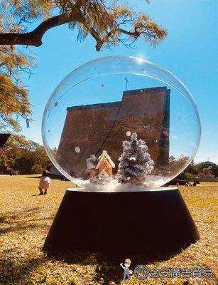 大尺寸透明壓克力球 水晶球 聖誕節佈置