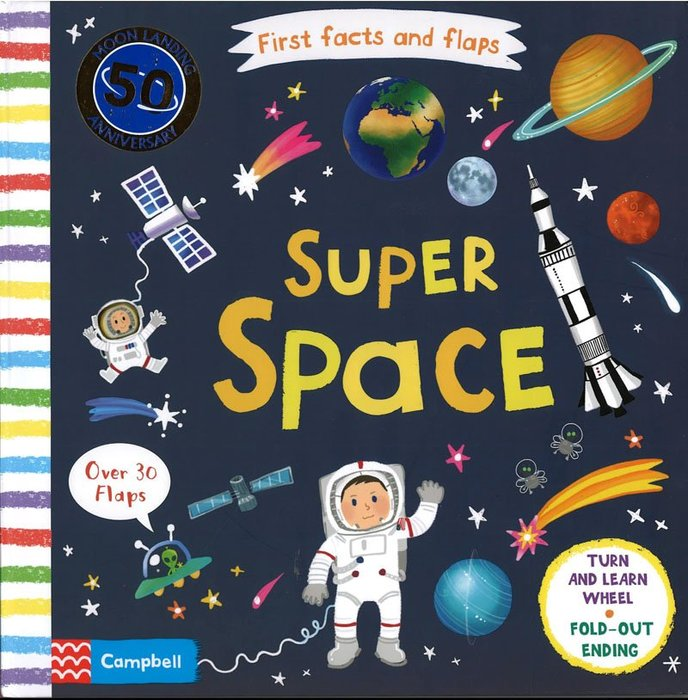 *小貝比的家*FIRST FACTS & FLAPS: SUPER SPACE/硬頁書翻翻操作書/3~6