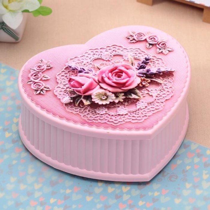音樂盒心形首飾女生兒童生日快樂交換禮物跳芭蕾舞女孩八音盒旋轉創意