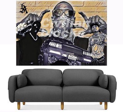 Cover Taiwan 官方直營 Lowrider 嘻哈 西岸 老墨 刺青 家飾 傢飾 窗簾布 壁貼 背景布 (預購)