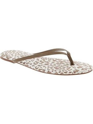 BJGO / OLD NAVY_女裝_Women's Animal-Print Capri Sandals 甜美豹紋夾腳拖鞋/海灘鞋/人字拖 7號