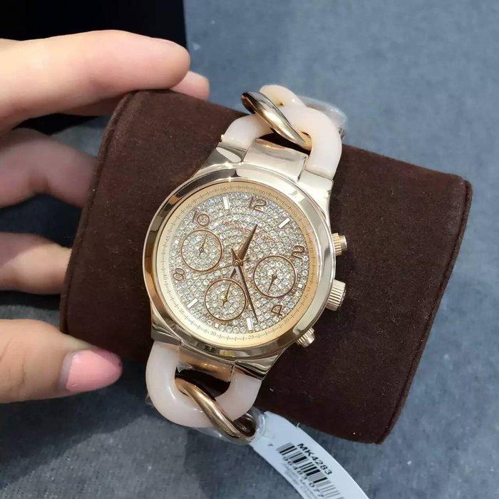 【Michael Kors代購館 】美國正品MK4283 明星款女錶 今年主打款手鏈式手錶 水鑽錶面腕錶 現貨特價款