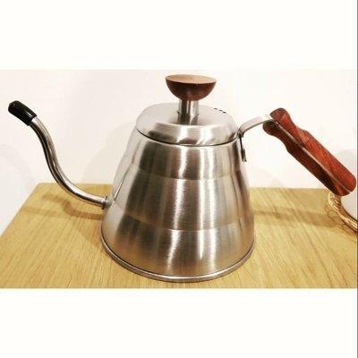 經典溫潤木柄咖啡手沖壺 不鏽鋼細口壺(1000ML)
