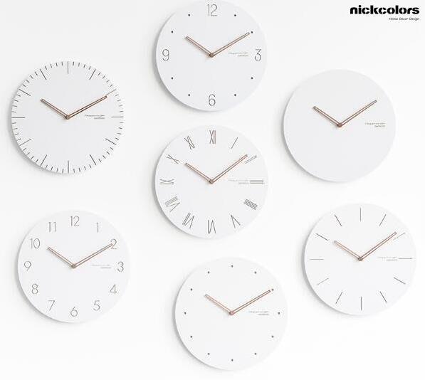 尼克卡樂斯~北歐經典款靜音掛鐘 時尚 簡約 圓形靜音時鐘 兒童房 餐廳掛鐘 咖啡廳時鐘 客廳臥室掛鐘 北歐風壁掛時鐘