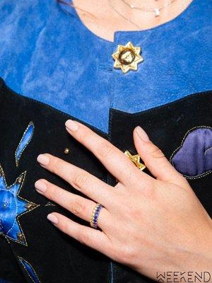 【WEEKEND】 TALITA 10:10 銀鍍18kt 玫瑰金 細戒 線戒 戒指 藍色