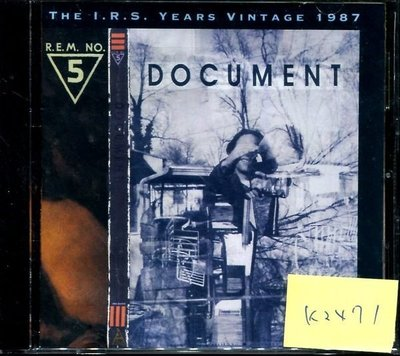 *真音樂* REM / DOCUMENT 二手 K2471  (清倉.下標賣5)